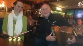 Áine Heslin and Pat Keating on accordian.