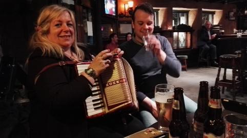 Visiting musicians from Kilkenny!
