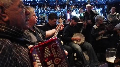 Jimmy, Andy, Colin, John and Paula at Cruises Thurs night session.