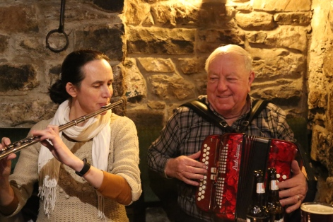 Áine Heslin and Jimmy Clancy. Photo by Betty Connor.