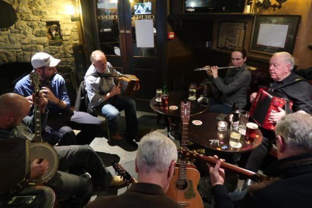 From the left - John, Aidrian, Pat, Áine, Jimmy Matt and Frank. Photo taken by Andy Lambert.