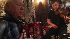 Jimmy Clancy, accordion and Pat Keating, fiddle.
