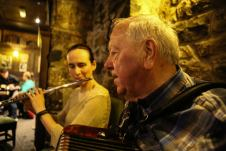 Áine on flute and Jimmy Clancy on accordion. Photo by Pat Keating.