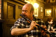 Mick Coffey on flute. More great fluting! Photo by Pat Keating.